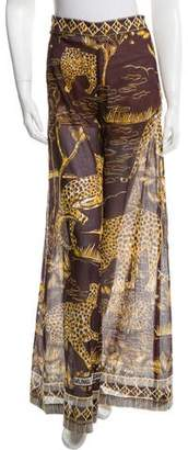 Valentino Panther Print Sheer Pants w/ Tags