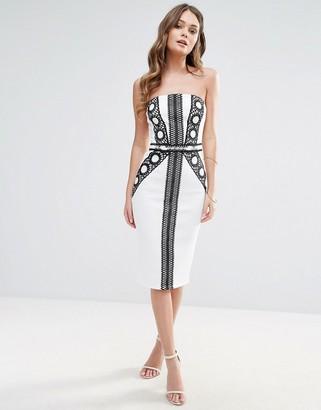 Lipsy Bandeau Monochrome Dress $64 thestylecure.com