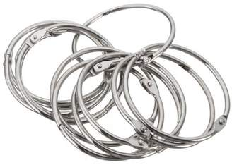 "Generic 12pcs Stainless Steel Window Shower Curtain Hooks Rings Clamps Round Anti Rust 2"" Diameter Home Bathroom"