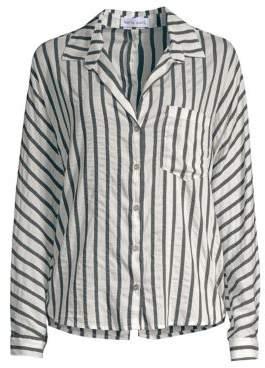 Bella Dahl Striped Button-Down Blouse