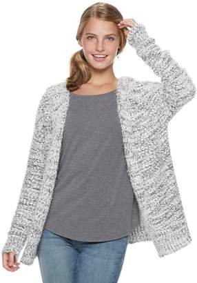 Mudd Juniors' Boucle Hooded Cardigan