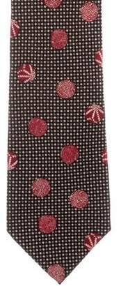 Bottega Veneta Seashell Print Silk Tie