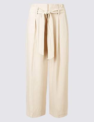 Marks and Spencer Wide Leg Cropped Trousers