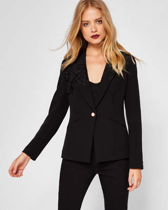 Ted Baker OIBIA Embroidered suit jacket