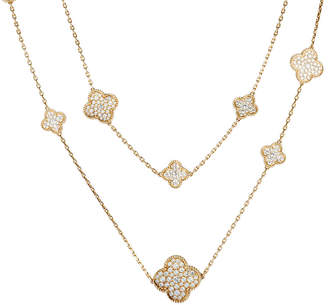 Van Cleef & Arpels Heritage  18K Rose Gold 16.92 Ct. Tw. Diamond Necklace