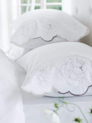 Designers Guild Floreale grande embroidered housewife pillowcase