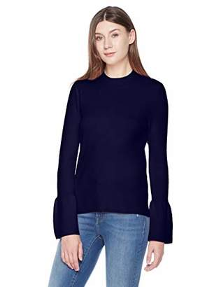 A.Dasher Women Turtleneck Sweater Top with Flared Bell Sleeves