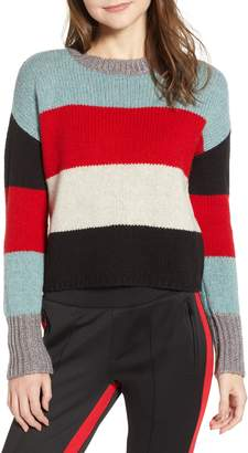Pam & Gela Stripe Crop Sweater
