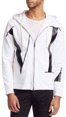 Valentino Hooded Zip-Up Sweatshirt