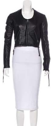 Linea Pelle Leather Zip-Up Jacket