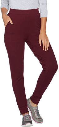 Denim & Co. Active Petite Jogger Pants with Zipper Detail