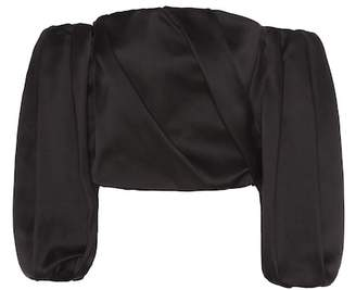 The Row Amilli silk-satin blouse
