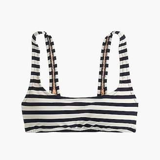 J.Crew Scoop bikini top in stripe