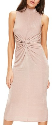 Women's Missguided Front Knot Midi Dress $72 thestylecure.com