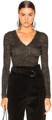 Ulla Johnson Bessie Bodysuit in Charcoal | FWRD