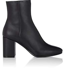 Balenciaga Women's Chunky-Heel Leather Ankle Boots - Noir