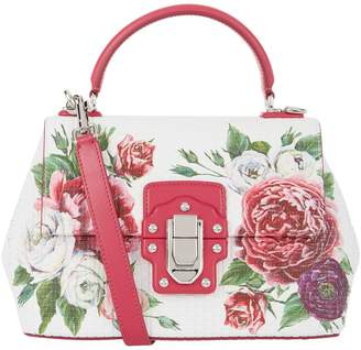 Dolce & Gabbana Small Peony Lucia Top Handle Bag