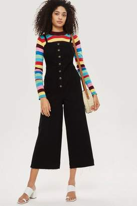 Topshop MOTO Horn Button Jumpsuit