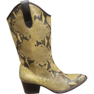 Robert Clergerie Leather cowboy boots
