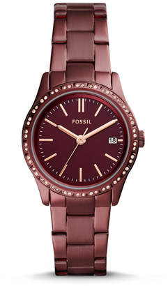 Fossil Adalyn Three-Hand Date Wine Stainless Steel Watch