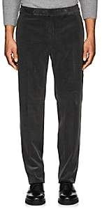 Ralph Lauren Purple Label MEN'S ANTHONY COTTON-CASHMERE CORDUROY TROUSERS-CHARCOAL SIZE 38