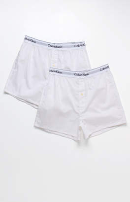 Calvin Klein Two Pack Woven Boxers