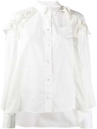 Sacai ruffled shirt