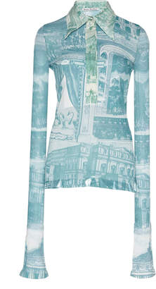 Acne Studios Estefani Printed Georgette Shirt