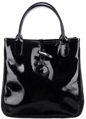 Longchamp Patent Leather Roseau Tote