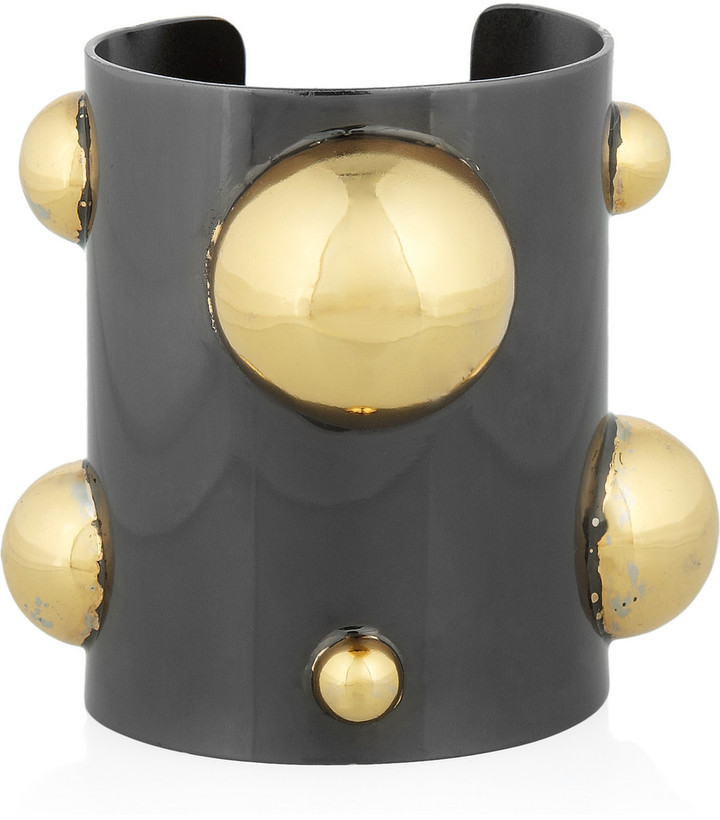 Kelly Wearstler 18-karat gold-plated and brass cuff