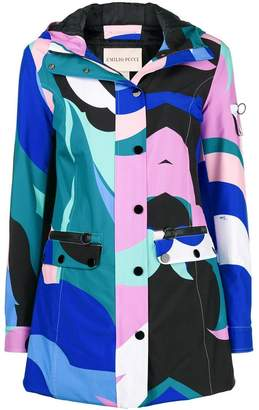 Emilio Pucci colour-block fitted coat