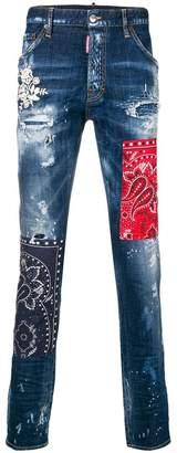 DSQUARED2 cool guy bandana jeans