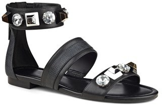 Women's Nine West 'Uzome' Crystal Embellished Strappy Sandal $78.95 thestylecure.com