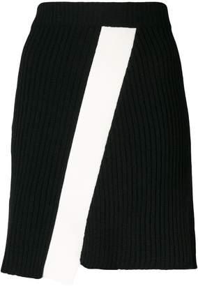 Calvin Klein diagonal panel skirt