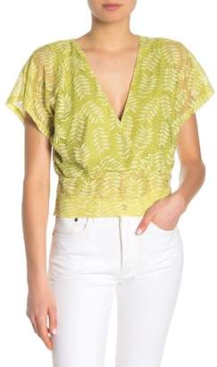 June & Hudson Short Sleeve Lace Crop Top