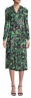 Diane von Furstenberg Floral-Print Fit--Flare Wrap Dress