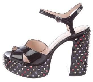 Marc Jacobs Embellished Platform Sandals