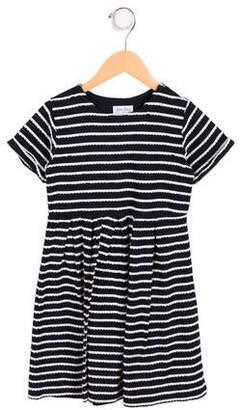 Rachel Riley Girls' Pleated Striped Dress