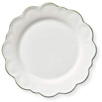 AERIN Scalloped Green Rim Salad Plates