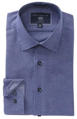 Report Collection Check Modern Fit Dress Shirt