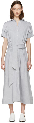 Lisa Marie Fernandez Grey Chambray Shirt Dress $495 thestylecure.com