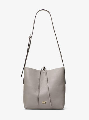 Michael Kors Junie Large Pebbled Leather Messenger