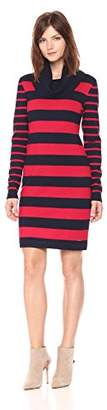 Tommy Hilfiger Women's Turtle Neck Striped Sweater Dress