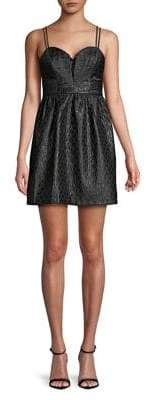BCBGeneration Geometrical Jacquard Fit-&-Flare Dress