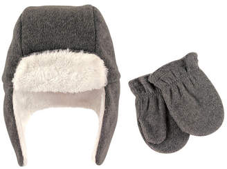 90ff1bff531 Baby Vision Hudson Baby Trapper Hat and Mitten Set