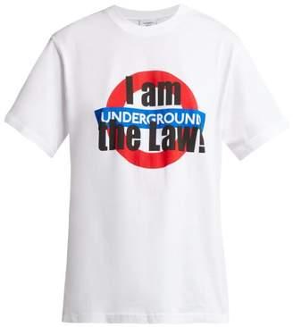 Vetements London Underground Print Cotton T Shirt - Womens - White Multi