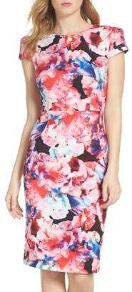 Women's Betsey Johnson Scuba Midi Dress $138 thestylecure.com