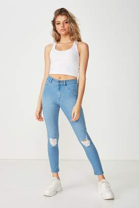 Supre Short Super Skinny Ripped Jean
