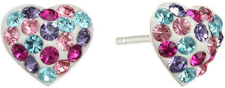 Disney Childs Multicolor Crystal Heart Earrings