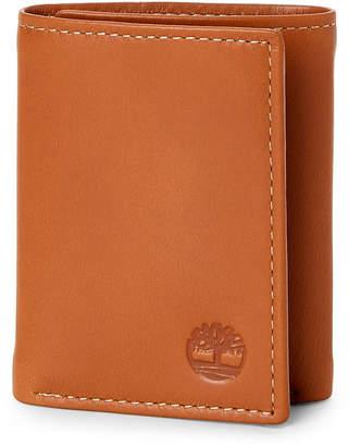 Timberland Tan Leather Tri-Fold Wallet